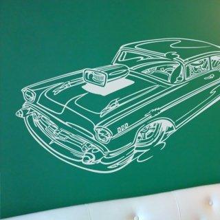 Samolepka na zeď Auto 007 - 120x62 cm
