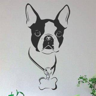 Nálepka na zeď Bostonský teriér 001 - 120x235 cm