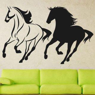 Samolepka na zeď Dva koně 0330 - 94x60 cm