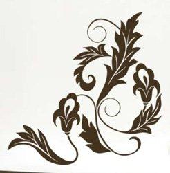 Samolepky na zeď Ornamenty z rostlin 023