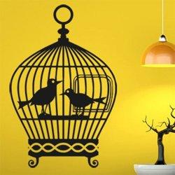 Samolepky na zeď Ptačí klec 001