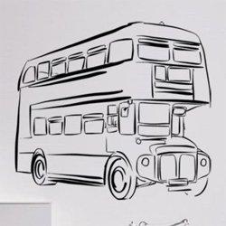 Samolepky na zeď Londýnský autobus Double Decker 0792