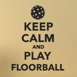 Samolepky na zeď Keep calm and play floorball 1117