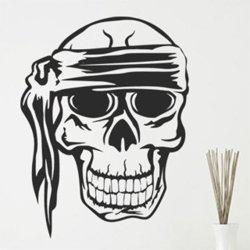Samolepky na zeď Lebka piráta 1173