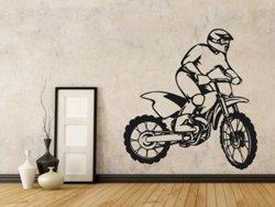Samolepky na zeď Motorka 010