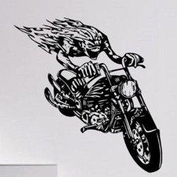 Samolepky na zeď Motorkář 1006