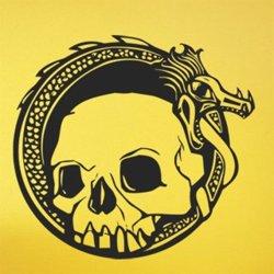 Samolepky na zeď Lebka s drakem 1175