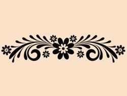 Samolepky na zeď Ornament s květinami 0179