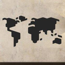 Samolepky na zeď Mapa světa 1233