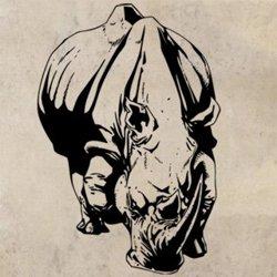 Samolepky na zeď Nosorožec 003