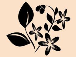 Samolepky na zeď Květiny 027