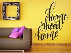Samolepky na zeď Nápis Home Sweet Home 0631