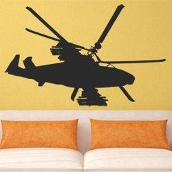 Samolepky na zeď Helikoptéra armádní 0811