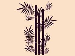 Samolepky na zeď Bambus 001
