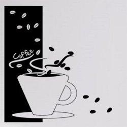Samolepky na zeď Hrnek kávy 0041