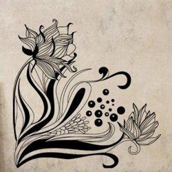 Samolepky na zeď Květiny 020