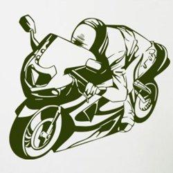 Samolepky na zeď Motorka 026