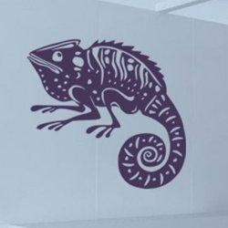 Samolepky na zeď Chameleon 001