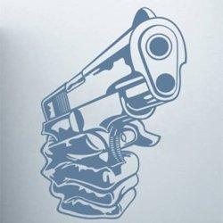 Samolepky na zeď Pistole 001