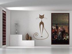 Samolepky na zeď Kočka 012