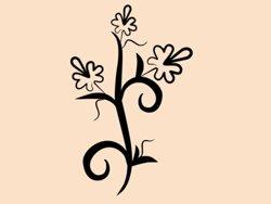 Samolepky na zeď Květiny 014