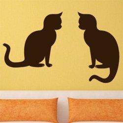 Samolepky na zeď Dvě kočky 0510