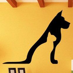 Samolepky na zeď Kočka a pes 0553