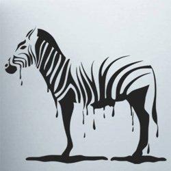 Samolepky na zeď Zebra 011
