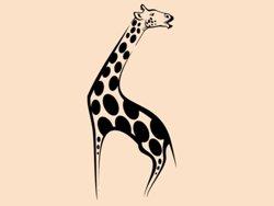 Samolepky na zeď Žirafa 003
