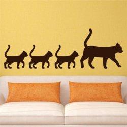 Samolepky na zeď Kočka a koťata 0477