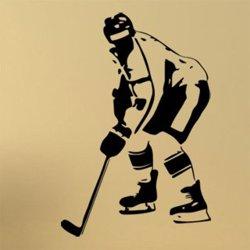 Samolepky na zeď Hokejista 0605