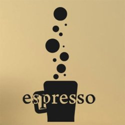 Samolepky na zeď Káva espresso 0110