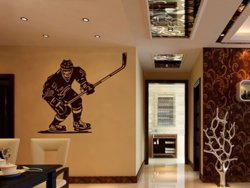 Samolepky na zeď Hokejista 001