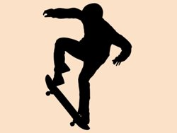 Samolepky na zeď Skateboardista 006