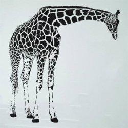 Samolepky na zeď Žirafa 004