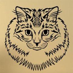Samolepky na zeď Kočka 0472