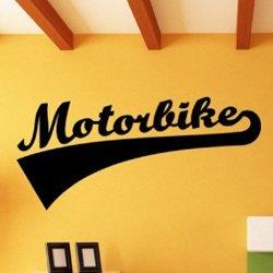 Samolepky na zeď Nápis Motorbike 0999