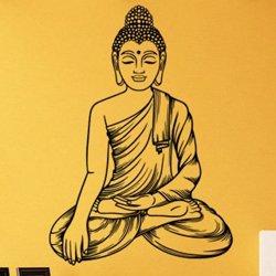 Samolepky na zeď Sedící Budha 1295
