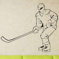 Samolepky na zeď Hokejista 0606