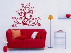 Samolepky na zeď Ornamenty z rostlin 015