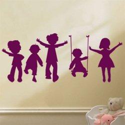 Samolepky na zeď Hravé děti 002