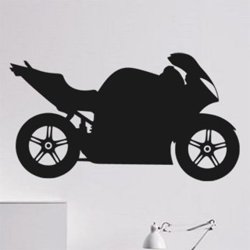 Samolepky na zeď Motorka 017