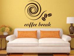 Samolepky na zeď Nápis Coffee break 0042