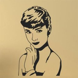 Samolepky na zeď Audrey Hepburn 1369