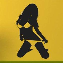 Samolepky na zeď Sexy žena 010