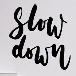 Samolepky na zeď Nápis Slow down 0650