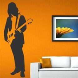 Samolepky na zeď Kytarista 009