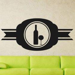 Samolepky na zeď Lahev vína 0080