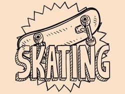 Samolepky na zeď Skateboard 0961