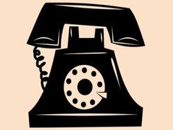 Samolepky na zeď Telefon 0295